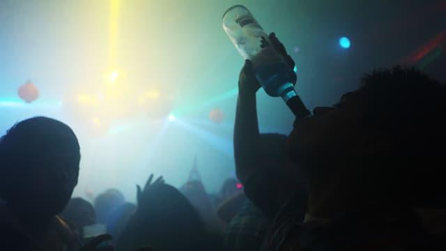 Tanzfläche in einem Club.