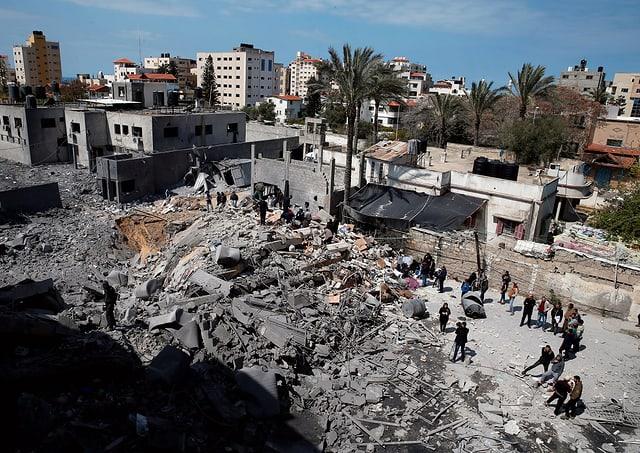 Zertrümmertes Gebäude im Gaza-Streifen