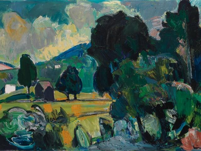 Hochmoor, 1950, Öl auf Holz, Privatbesitz