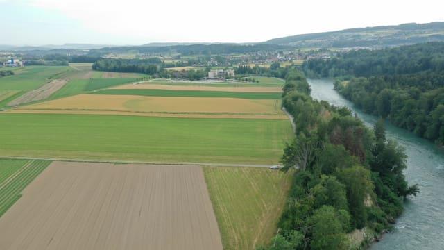 Luftaufnahme des Areals für den Golfplatz Gnadenthal