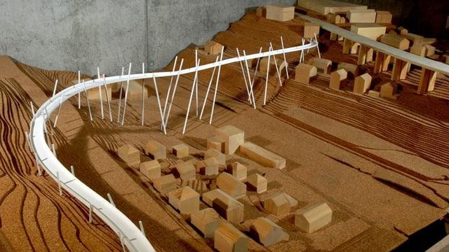 Ein Modell der Berner Velobrücke aus einer Semesterarbeit der FH Freiburg von 2008.