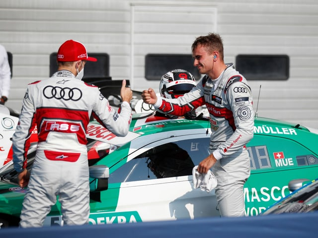 Nimmt erneut Gratulationen entgegen: Nico Müller (rechts).