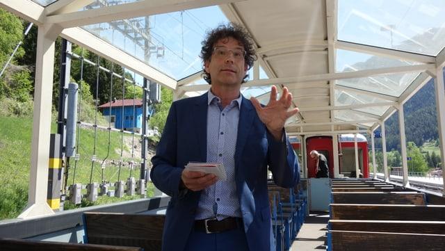 "Roman Cathomas è il maina project dal project ""Landwasser - in monument istoric dal Grischun""."