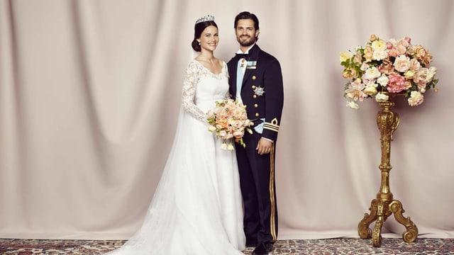 Hochzeitsfoto: Prinz Carl Philip und seine Prinzessin Sofia