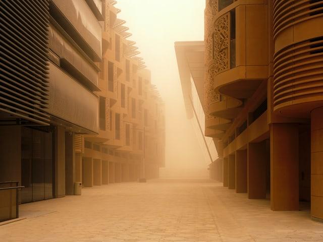 Eine Stadt im Sandsturm