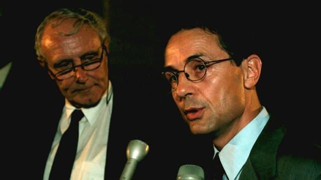 Guldimann 1997 mit dem damaligen Aussenminister Flavio Cotti.