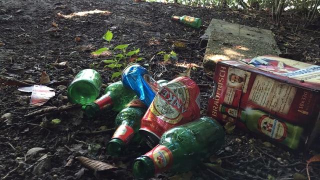 Abfall im Wald