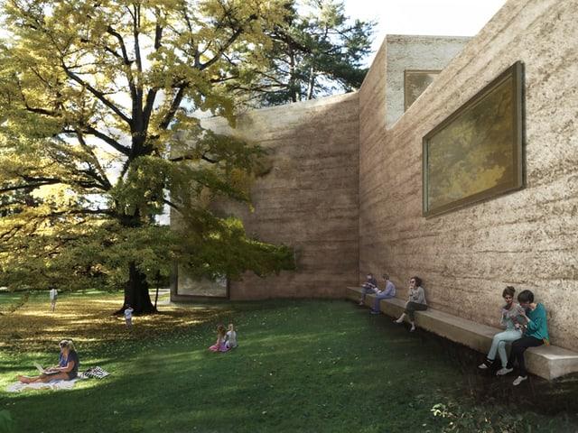 Visualisierung Neubau im Park