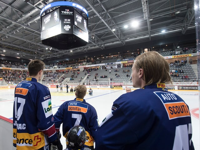 Igor Jelovac, Benoit Jecker und Marco Maurer bei der Mannschaftspräsentation.