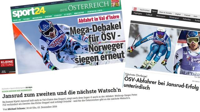 Ein Blick in die österreichischen Online-Medien.
