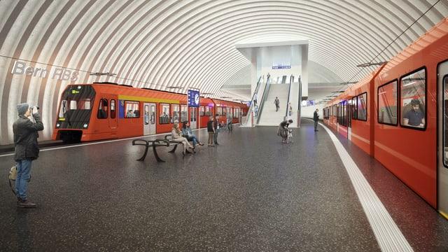 Visualisierung des neuen Bahnhofs