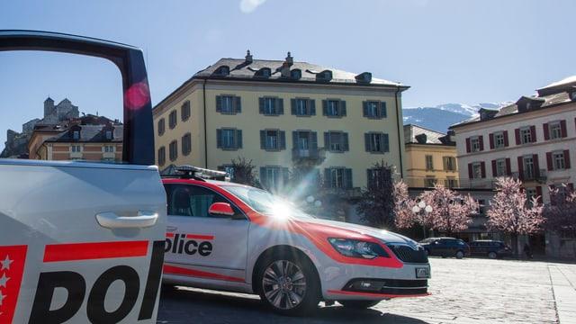 Polizeifahrzeuge.