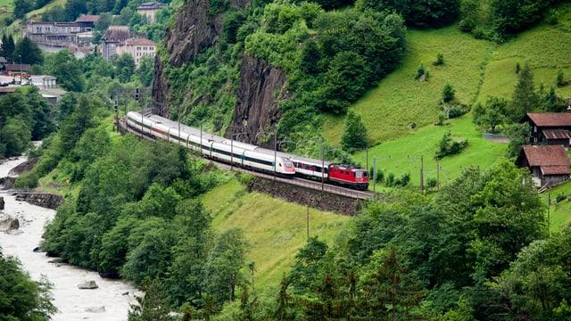 Gotthard-Bergstrecke.