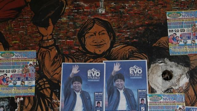 Wahlplakat Evo Morales.