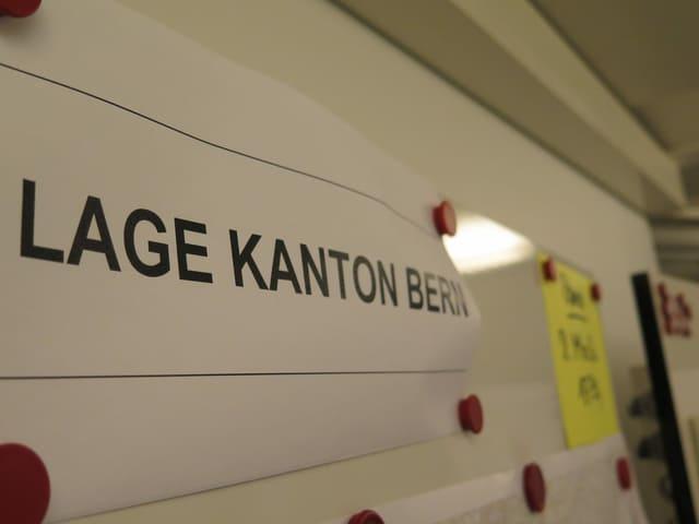 Tafel mit Lage Kanton Bern beschrieben