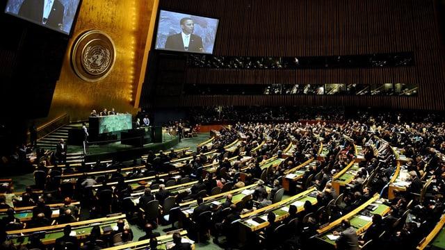 Obama spricht vor den UNO-Mitgliedern in New York