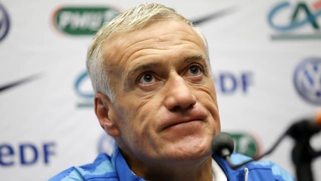 Didier Deschamps, il trenader da la squadra naziunala franzosa.