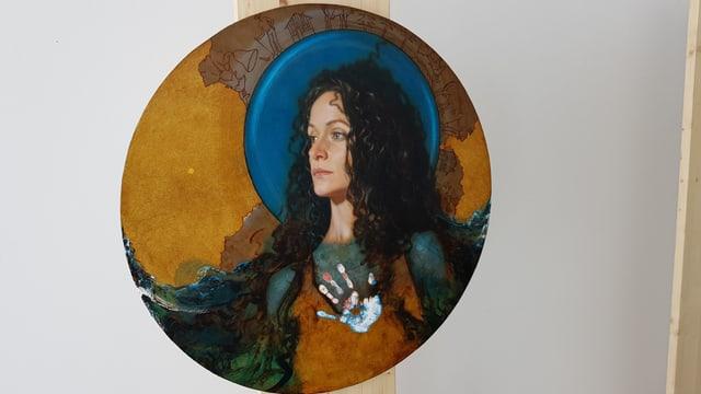 Maletg picturà da Patrick Devonas che mussa la sontga Margriata.