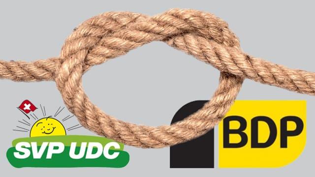Parteilogos mit Seil in Herzform