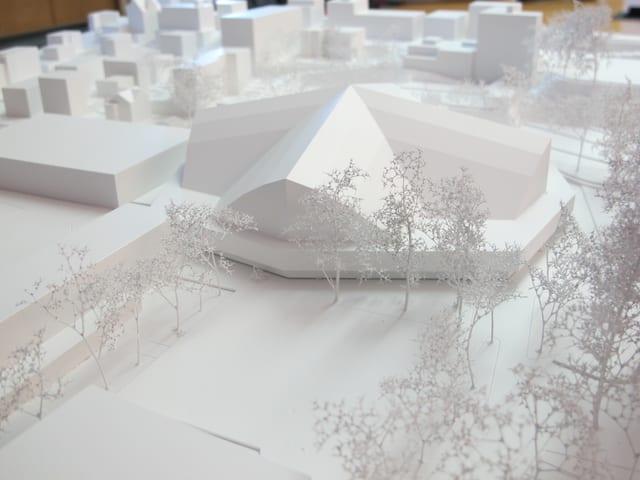 Modell Eishalle Davos
