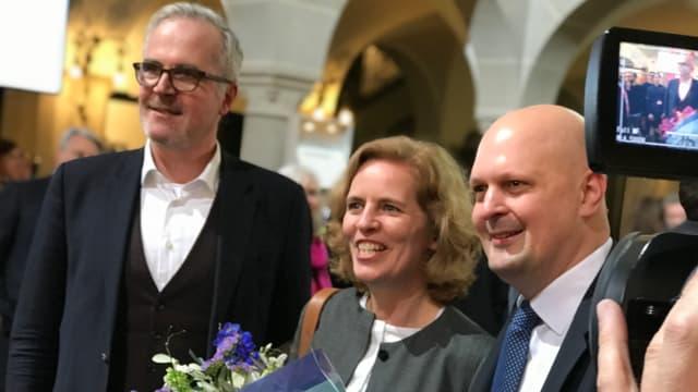 Portrait von Andreas Hauri, Karin Rykart und Michael Baumer