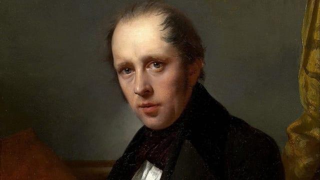 Ein Porträt von  Rodolphe Töpffer.
