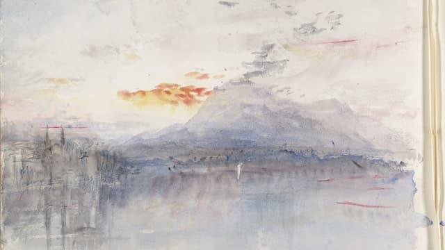 Ein Aquarell von William Turner: Die Rigi.