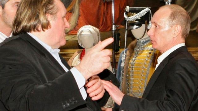 Depardieu bei einer Begegnung mit Putin.