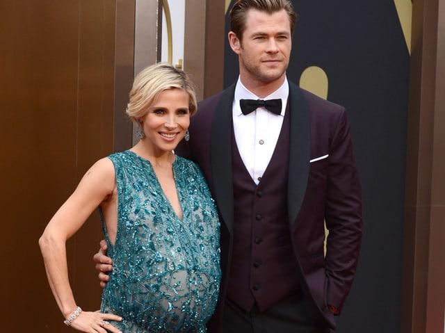 Chris Hemsworth und Elsa Pataky an der Oscar-Verleihung 2014.