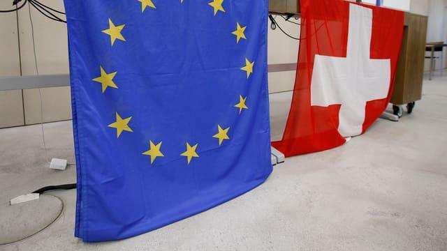.Flaggen Schweiz EU