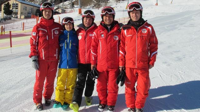 Chinesische Skilehrer in Celerina.