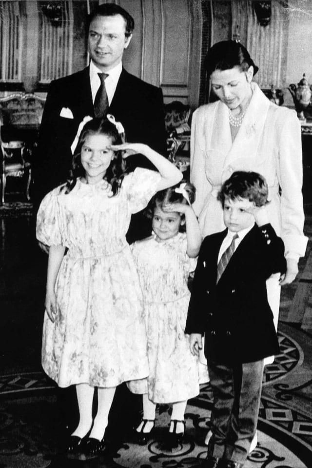 Königsfamilie in jungen Jahren
