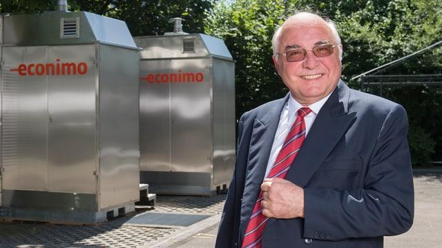 Urs Weidmann, Erfinder des Methanol Mini-Kraftwerks.