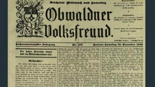 Titelblatt einer historischen Zeitung