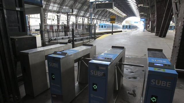 Leerer Bahnhof in Buenos Aires, Argentinien