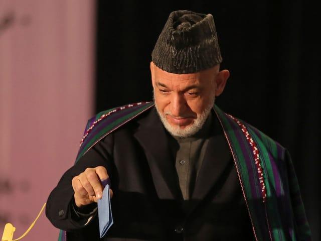 Porträt von Hamid Karsai.