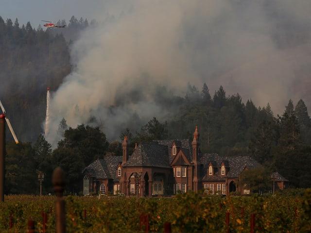 Weingut brennt in Santa Rosa 2016