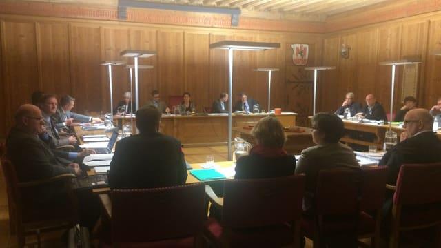 Il parlament da Cuira durant lur sesida