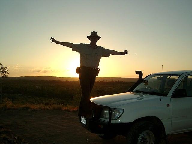 Urs Wälterlin im Outback.
