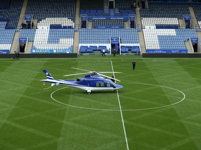 Der Helikopter von Leicester-Besitzer Vichai Srivaddhanaprabha.