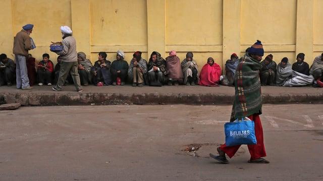 Obdachlose auf der Strasse.