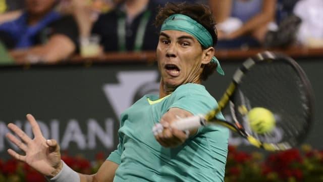 Rafael Nadal musste hart arbeiten, um in die Viertelfinals von Indian Wells vorzustossen.