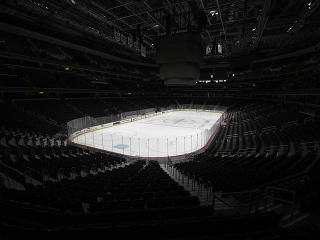 Leeres Hockey-Stadion