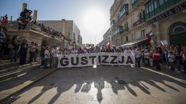 Demonstraten in Malta
