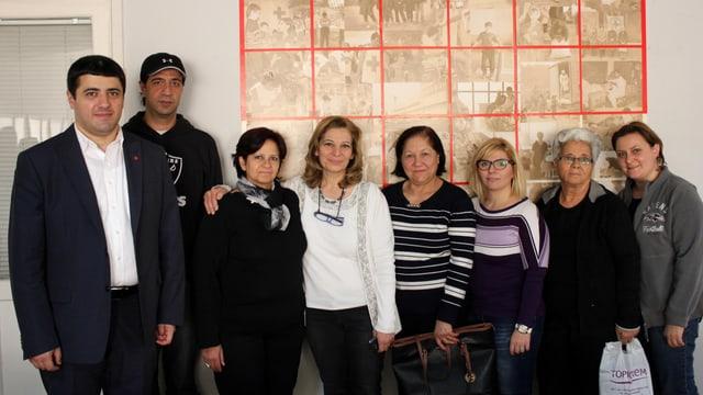 Edmon Azaryan (links) koordiniert die Winterhilfe für syrische Flüchtlinge.