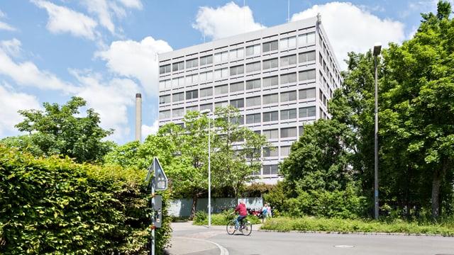 Blick auf ein Gebäude der FHNW in Muttenz