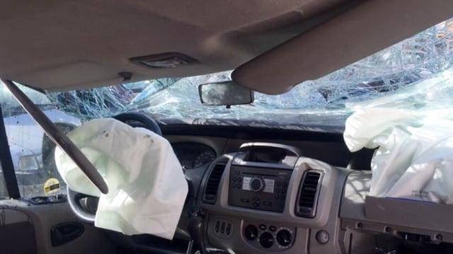 Das Unfallauto.