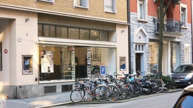 Aussensicht desBüros IG Kultur Luzern