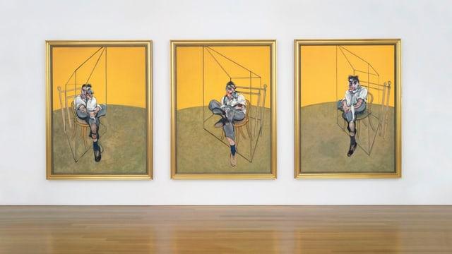 Aufnahme des dreigeteilten «Three Studies of Lucian Freud» von Francis Bacon.