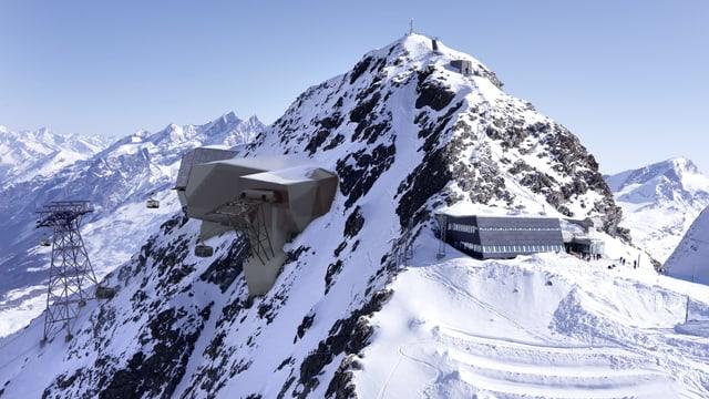 Visualisierung Berg mit Bergbahn-Station